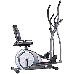 Body Champ New & Improved 3-in-1 Trio-Trainer/Elliptical, Upright Stationary, and Recumbent Exercise Bike All in ONE Machine BRT5800