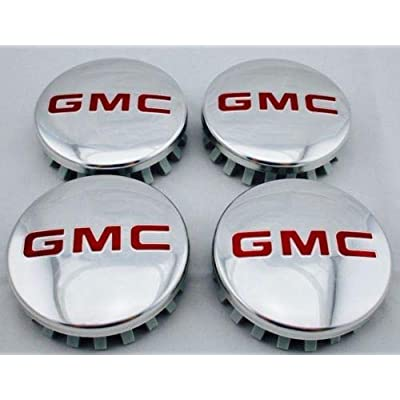 "SKAD 4X GMC Sierra Yukon Denali Aluminum Wheel Center Hub Caps 83mm 3.25"" 22837060: Automotive"