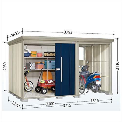 タクボ物置 TP/ストックマンプラスアルファ TP-S3722 多雪型 標準屋根 『駐輪スペース付 屋外用 物置 自転車収納 におすすめ』 ディープブルー B07MV1CVD9