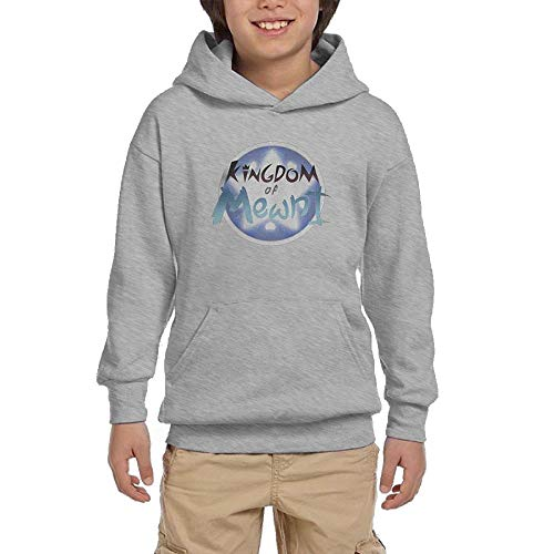 (Edward Beck Youth Hooded Sweatshirt Star Vs The Forces of Evil Logo Fashion Classic Style Ash L)