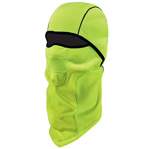Ergodyne N-Ferno 6823 Winter Ski Mask Balaclava, Wind-Resistant Face Mask, Thermal Fleece, Hi Vis ()