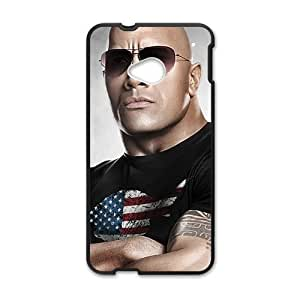 Happy The Rock Wwe Black Phone Case for HTC One M7