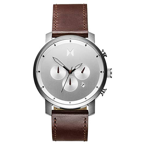 MVMT Chrono Watches | 45 MM Men's Analog Watch Chronograph (Silver Brown) ()