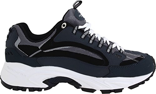 Skechers Sport Men's Stamina Nuovo Cutback Lace-Up Sneaker,Navy/Black,12 XW US by Skechers (Image #2)
