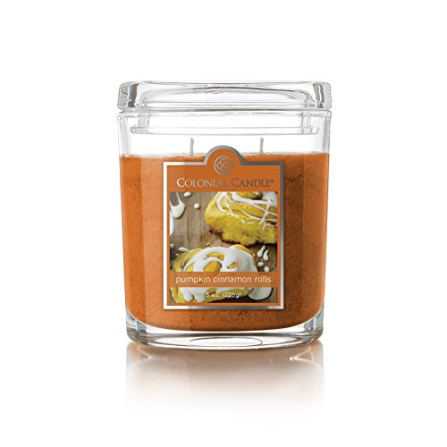Colonial Candle Pumpkin Cinnamon Rolls Oval Jar Candle, 8 oz, Orange
