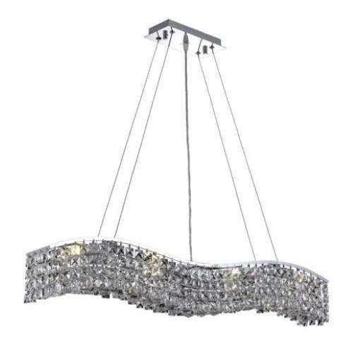 Dakota Chrome Traditional 8-Light Hanging Chandelier Swarovski Elements Crystal in Crystal (Clear)-1735D36C-SS--5