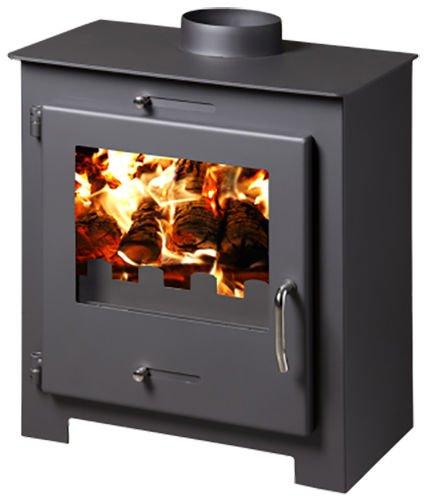 Estufa de leña chimenea Log quemador Multi combustible chimenea 8 kW Bora Lux: Amazon.es: Bricolaje y herramientas