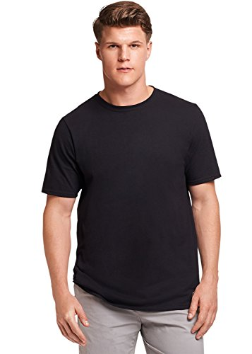 Russell Athletic Men's Essential Short Sleeve Tee, Black, XXL (Tee Mens Short Sleeve Black)