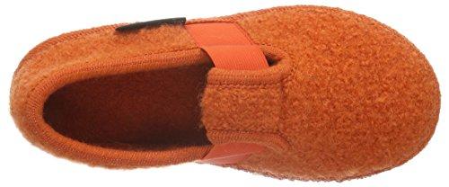 Haflinger Joschi 621002 - Zapatillas de casa de tela para niños Naranja - Orange (Rost 43)