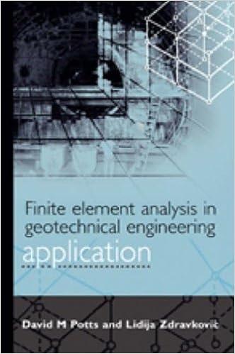 potts zdravkovic finite element analysis in geotechnical engineering
