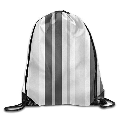 Dodge Challenger Costume (Stripe Grey Black Beam Drawstring Travelling Bundle Pocket Canvas Storage Gym Bag Ball Backpack)
