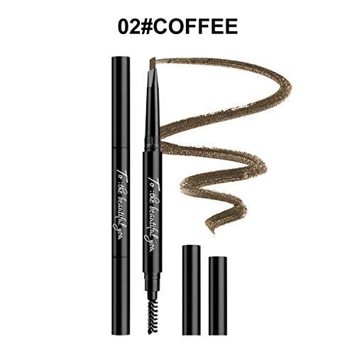 5 Matita Meisijia Due Caffè A Punte Trucco Colori Anti sudore Durata Testa Per Lunga Penne Nageta Del Sopracciglia Impermeabile Sopracciglio 1zzw5qBg4x