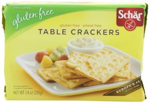 Schar Table Crackers Gluten Free, 7.4-Ounce (Pack of 3) by Schar [Foods]