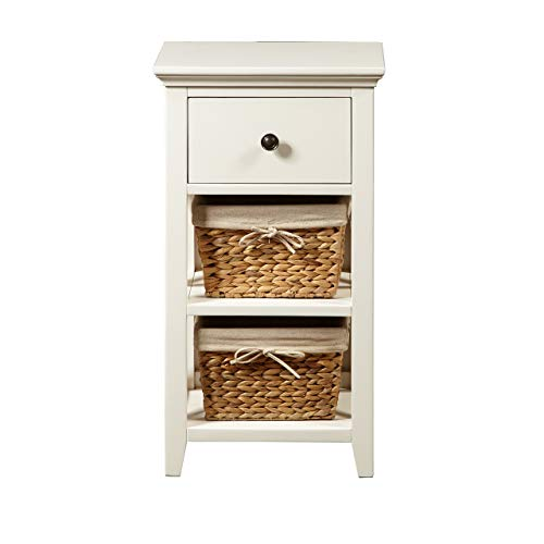 - Pulaski  Woven Wooden Basket Bathroom Storage Cabinet