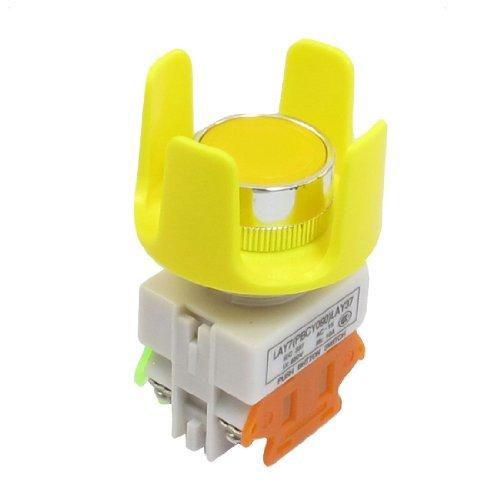 eDealMax Senza autoritenuta Contatto 4 morsetti a Vite di spinta Giallo pulsante Interruttore a pulsante
