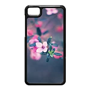 Black Berry Z10 Case,Four Petals Flower High Definition Wonderful Design Cover With Hign Quality Hard Plastic Protection Case