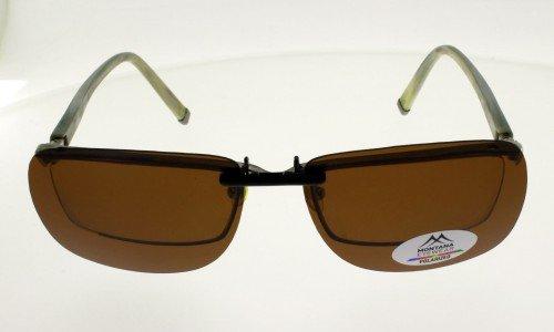 CLIP MONTANA C1B Sur-lunettes Marron polarisé concues pour les lunettes en plastique et acétate Taille L livré avec etui