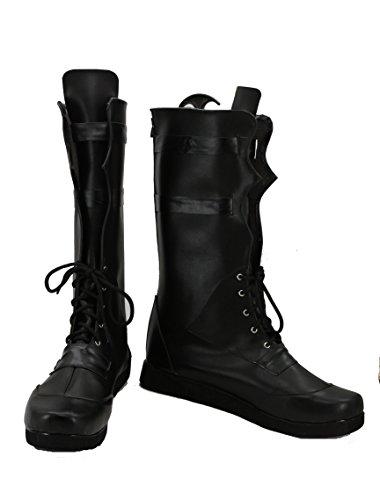 Veribuy Halloween Men Hero Cosplay Shoes Guardian Costume Black Cosplay Boots]()