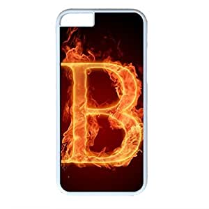 Alphabet Design White PC Case for Iphone 6 B
