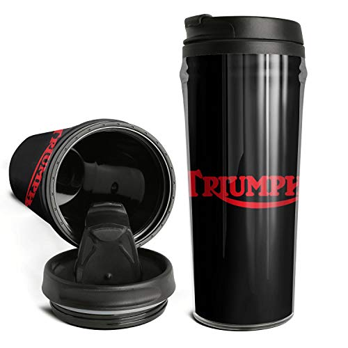Cute Novelty Coffee Cup Triumph-Motorcycles-Logo- Style Double Wall Insulated Thermal Coffee Travel Mug for Men Women 16.9 Oz