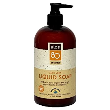Lily of the Desert Aloe 80 Organics Liquid Soap, Aloe Vera, 16-Ounces Pack of 3