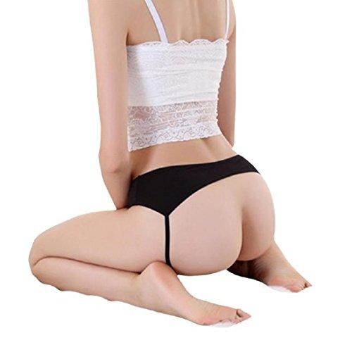 Underwear, Toraway Women Sexy Open Butt Backless Lingerie Thongs Briefs (Black) (Thong Sexy Lingerie For Women)