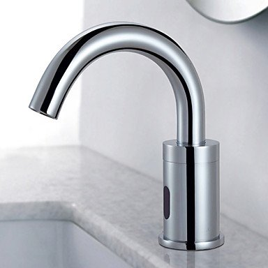 Centerset contemporary touch hands-free/non-contact ceramic valve hole Chrome bathroom sink faucet by FAUCET&YAMEIJIA