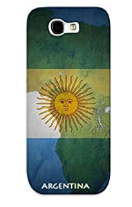 Ltronow1819yhtCA Snap On Case Cover Skin For Galaxy Note 2(argentina Flags World Cup )