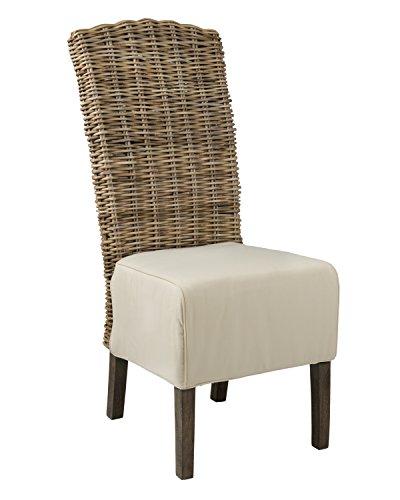 East At Main Brainerd Grey Rattan Dining Chair, (19x24x43)