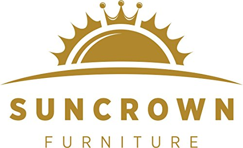 Suncrown Outdoor Furniture Grey Wicker Conversation Set with Glass Top Table (4-Piece Set) All-Weather | Thick, Durable Cushions with Washable Covers | Porch, Backyard, Pool or Garden by Suncrown (Image #6)