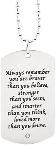 Pendant Dogtag On Chain - Inspirational Robust Stainless Steel Jewelry For Boys And Men