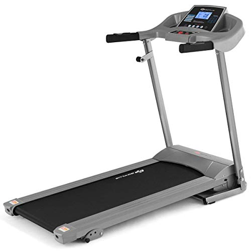Goplus 2.25HP Electric Folding Treadmill with Incline, Walking Running Jogging Fitness Machine with Blue Backlit LCD Display for Home & Gym Cardio Fitness (Black Jaguar Ⅳ - Updated)