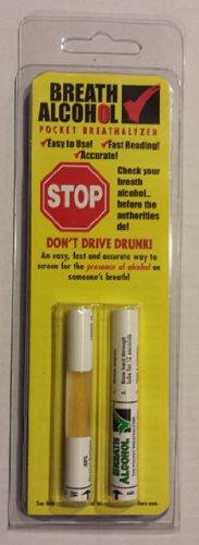 Breath Alcohol  08  Pocket Breathalyzer  2 Pack