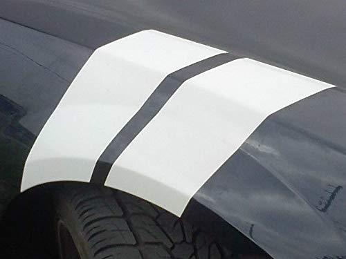 Tower Decals Fender Hash Stripes Fits Mustang Accessories Carbon Fiber - Mustang Carbon Fiber Fenders
