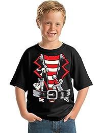 Awkwardstyles Youth Pirate Costume T-shirt Happy Halloween Kids Shirt