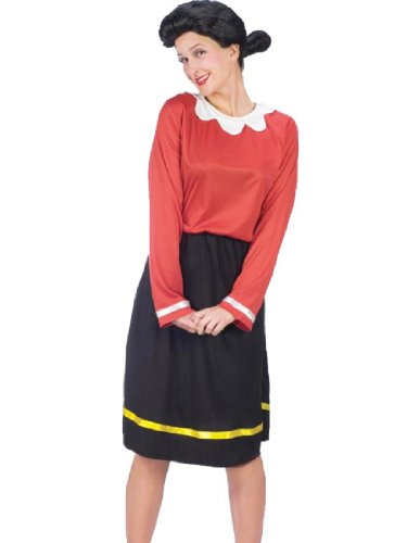 Olive Oil Costumes (Fun World womens Adult Olive Oyl Costume Small/Medium)
