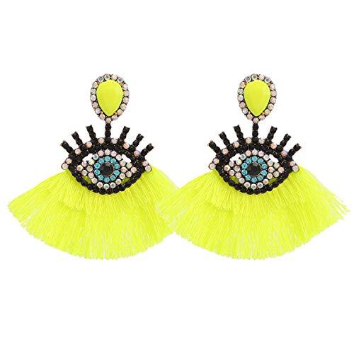 Boho Fashion Dangle Tassel Earrings For Women Geometric Fringed Multicolor Drop Earrings Wedding Party Girl Gifts