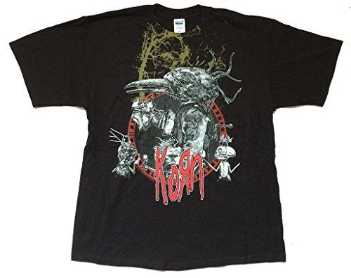 Korn Crow Circle Tour 2007 Black T Shirt Untitled Album (XL) (T-shirts Korn Printed)