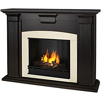 amazon com real flame adelaide indoor gel fireplace in black wash rh amazon com