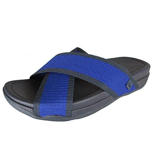 Fitflop Mens Surfer Sandalo Scorrevole Mazarine Blu