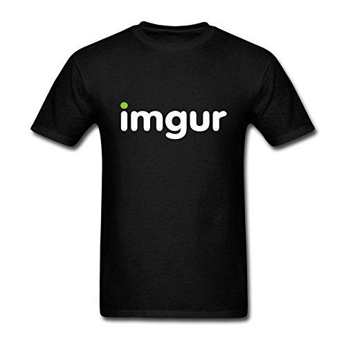 Ommiiy Mens Imgur Logo T Shirt Black M