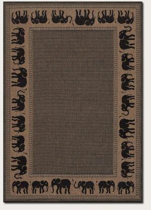 Recife Elephant Novelty Rug Rug Size: Square 8'6