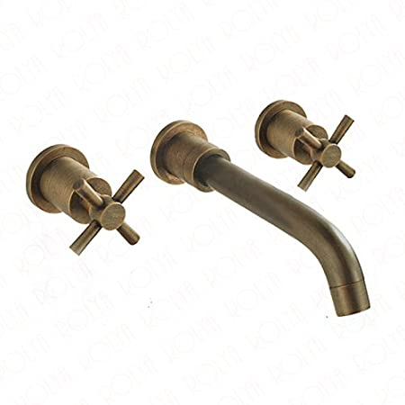 file antique bathroom faucet hole facuet three brass piece spread inch