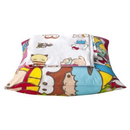 Sanrio Kitty and Friends Sheets Set - Twin (Pillowcase Sanrio)