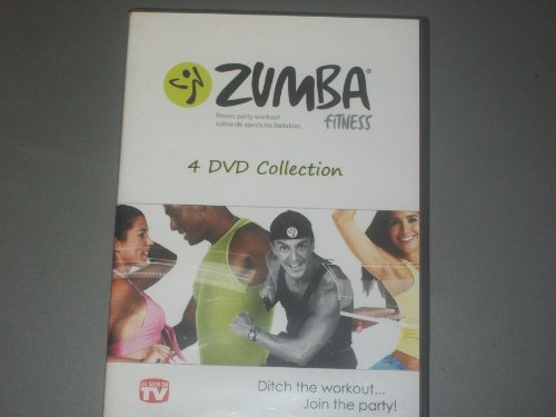 ZUMBA FITNESS 4 DVD COLLECTION DITCH THE WORKOUT...JOIN THE PARTY