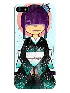 Everything Store DIY The Little Girl Wear Kimonos LightCyan Phone Shell Hard Case Perfect For iPhone 6 plus 5.5 Inch