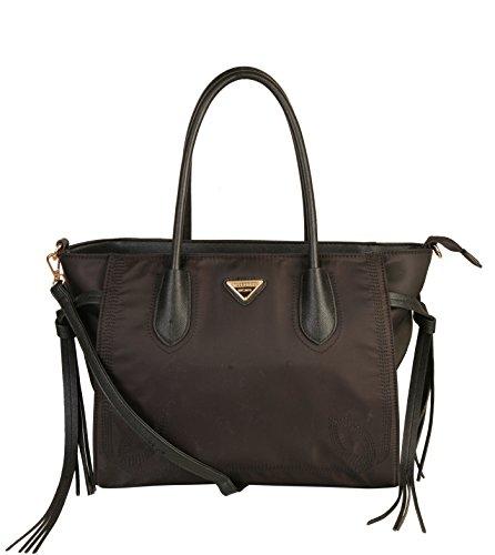 Discount Designer Clothing Handbags Shoes - Mllecoco Top Handle Water Proof Nylon Shoulder Tote Bag Satchel Handbag YL-2873 (Black)