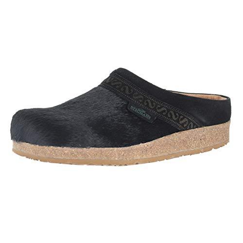 Stegmann Linz-Cork W Black Pony Womens Clogs Size 8M (Pony Ladies W Footwear)