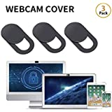 0.03inch Web Camera Cover Slide for Laptop, Computer, Macbook Pro, Mac, PC, Surface Pro, iPhone and Android Smartphones, Protect Your Privacy and Security(3Pcs)