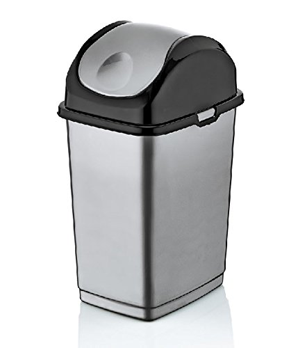 Brand 4.7-Gal. Compact Slim Trash Can